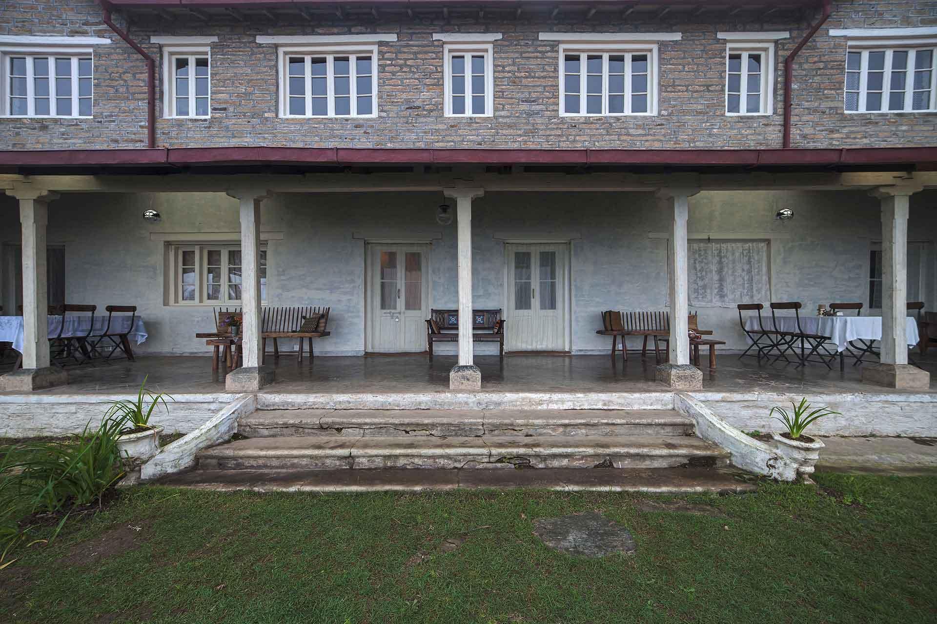 This verandah evokes the nostalgia of the Raj...