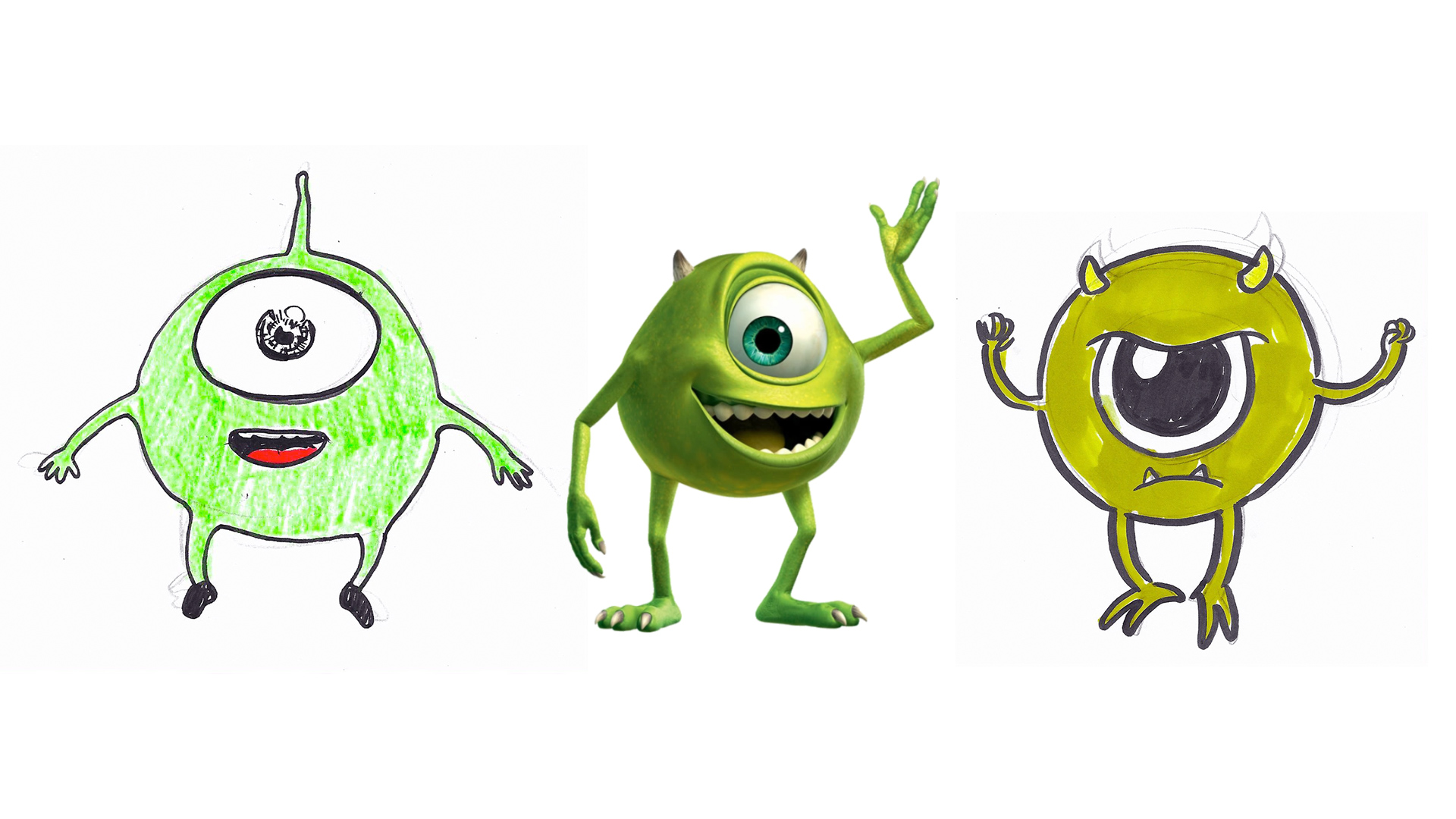 """MIKE  Pixar's """"Monsters Inc."""", 2001."""