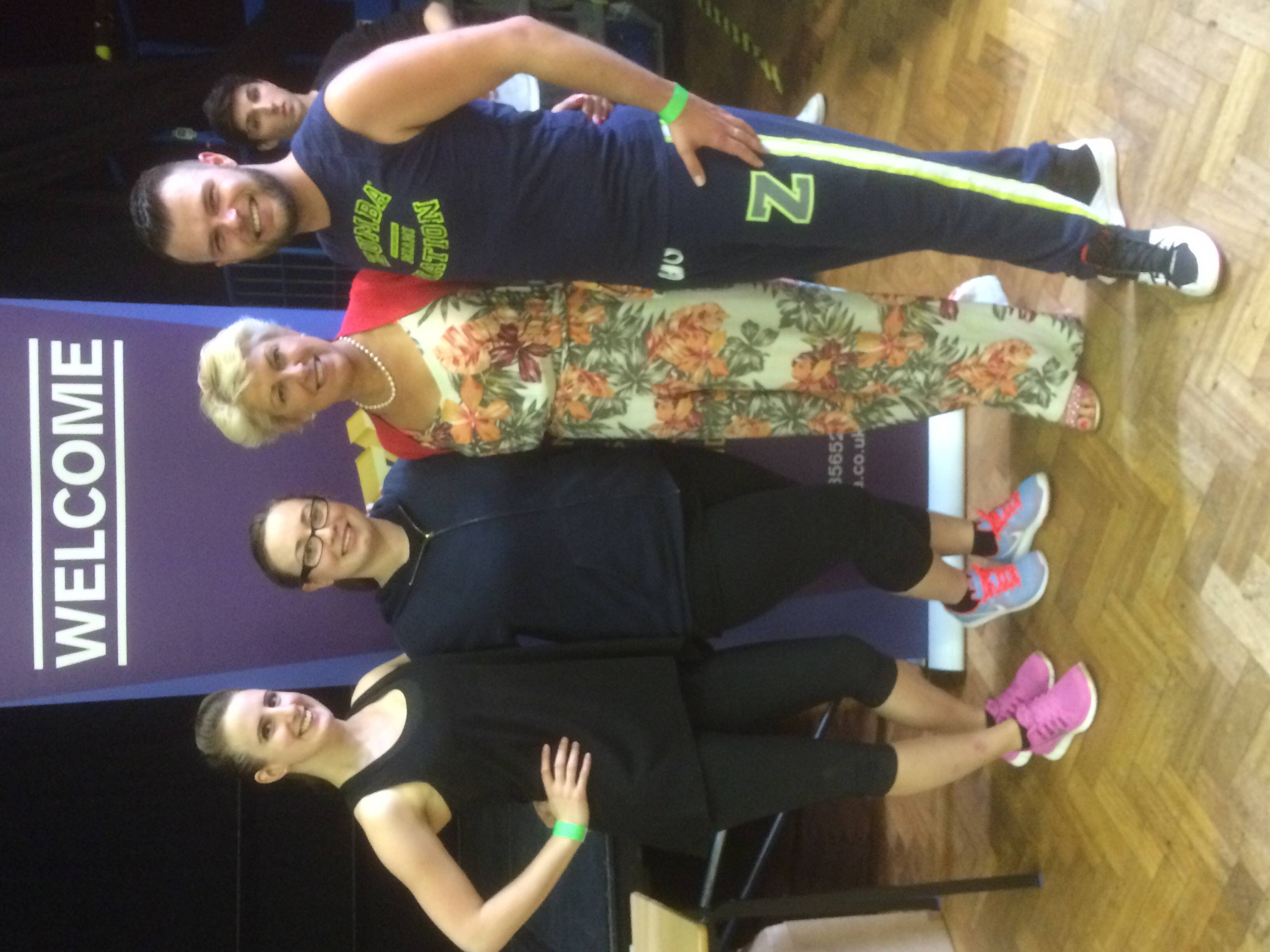 Some of the SimplyDance Team with Past President and Freestyle Faculty Member Anna Jones