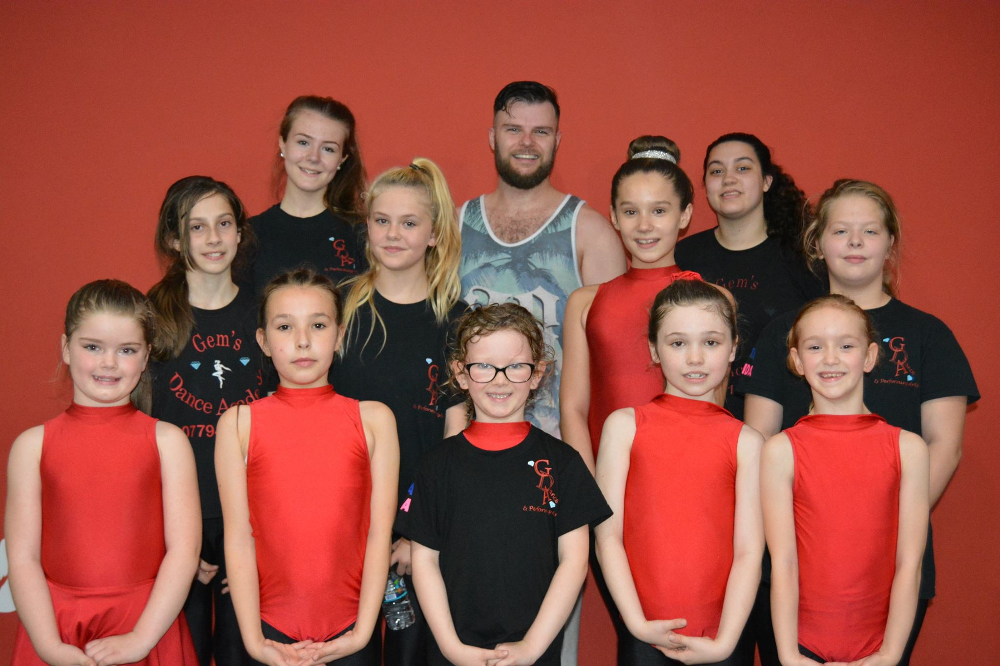 Students from Gem's Dance Academy after workshops in Street and Freestyle with James