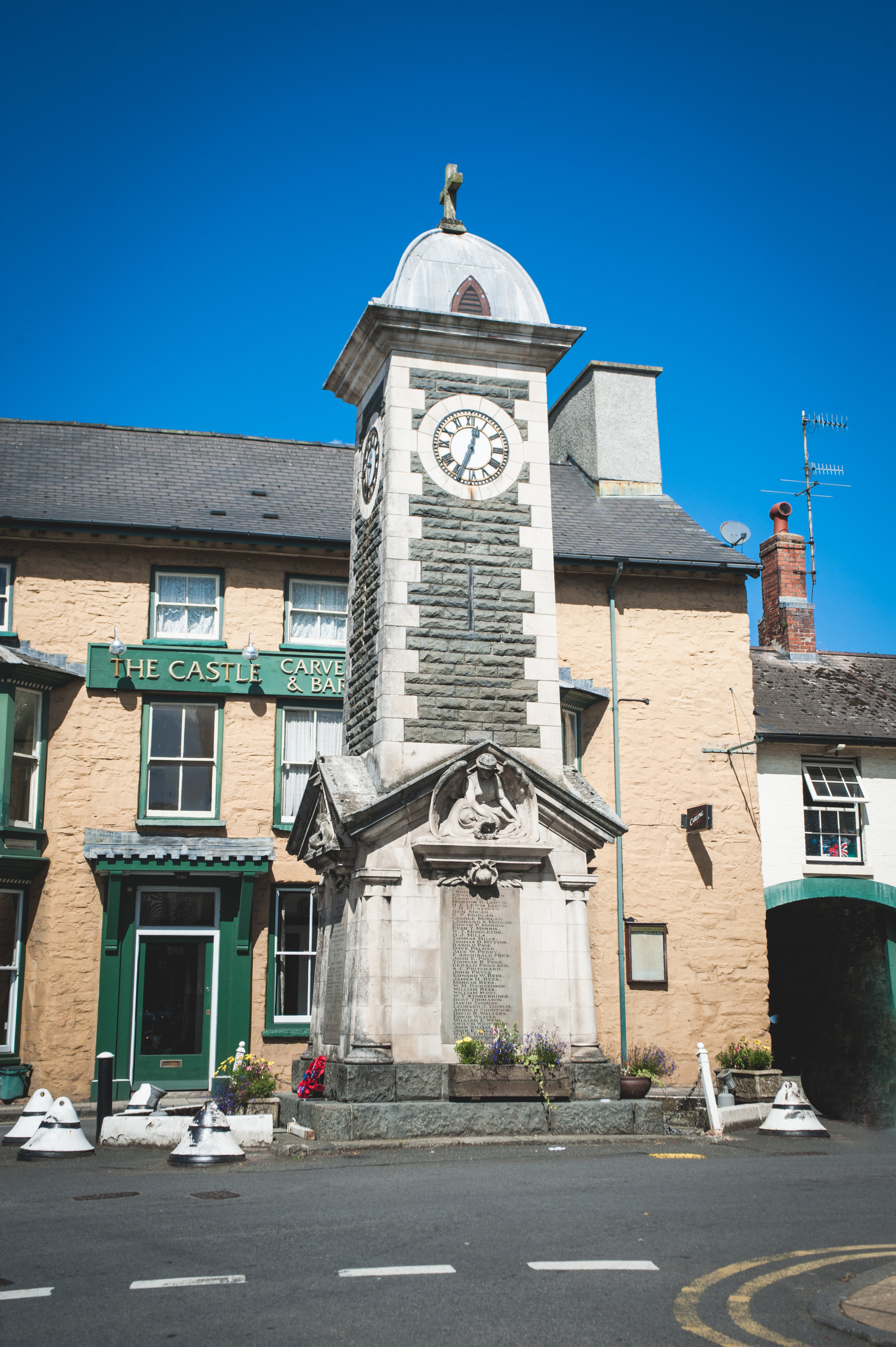 Rhayader town central clock tower