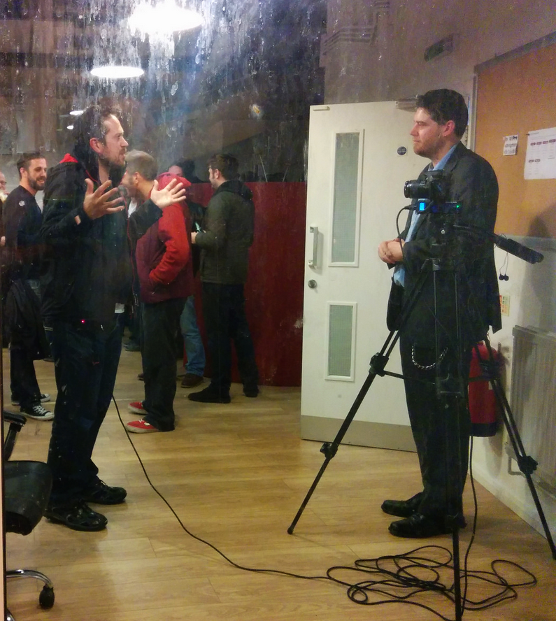 Being interviewed for VR Focus
