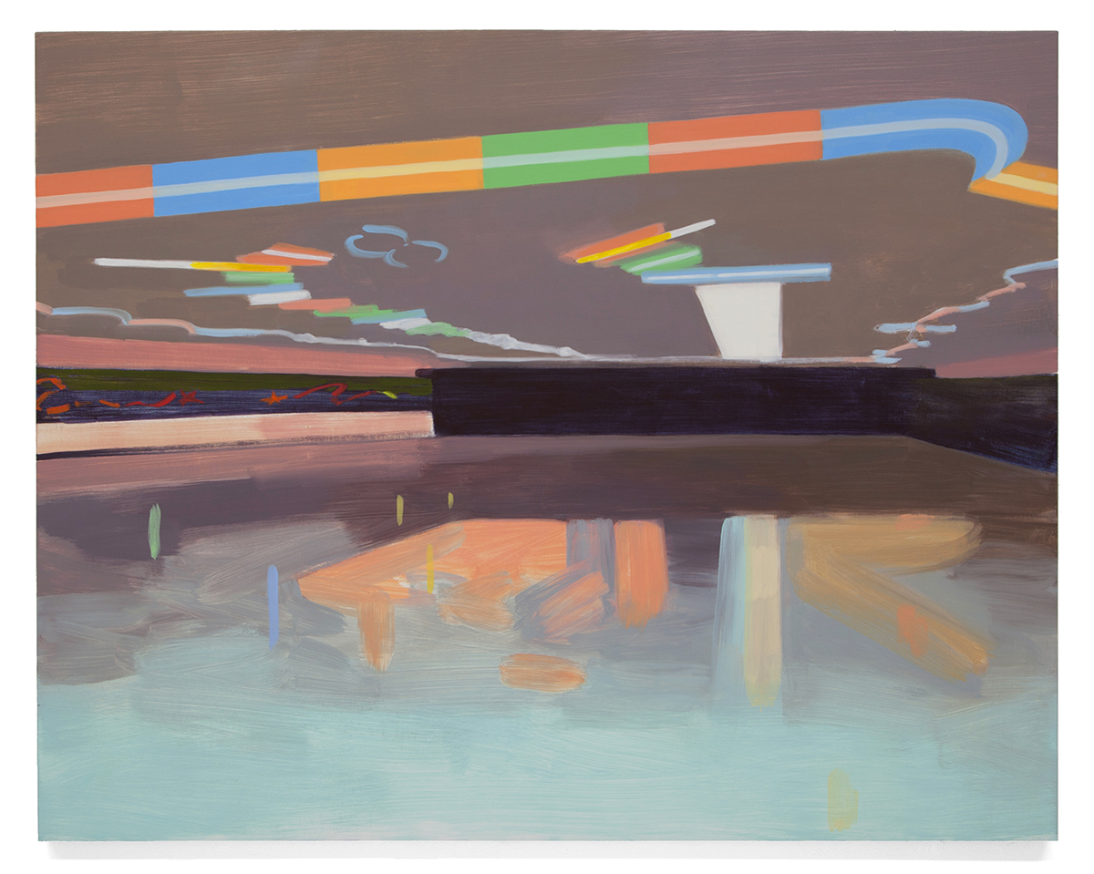 Untitled (Roller Rink),  2013 Oil on canvas over panel 38 x 48 in