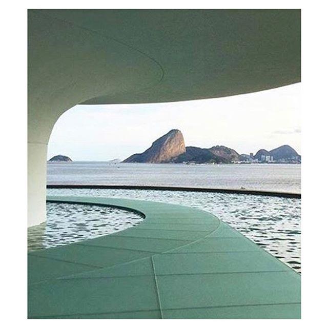 Niteroi Contemporary Art Museum by Oscar Niemeyer, built in Rio de Janeiro, 1996 #oscarniemeyer #niteroi #colorstory #cqinspiration #architecture #brazil #riodejaneiro #artgallery #contemporaryart #landmarks #rio #waterside #oscarniemeyerworks #oscarniemeyerarchitecture