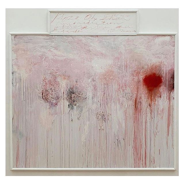 "Cy Twombly, ""Untitled (Analysis of the Rose as Sentimental Despair),"" 1985 at the Menil Collection, a private museum in Houston designed by Renzo Piano. #cytwombly #menilcollection #menil #cytwomblygallery #houston #postwarart #abstractexpressionism #contemporaryart #cqinspiration #renzopiano #americanartist #abstractart"