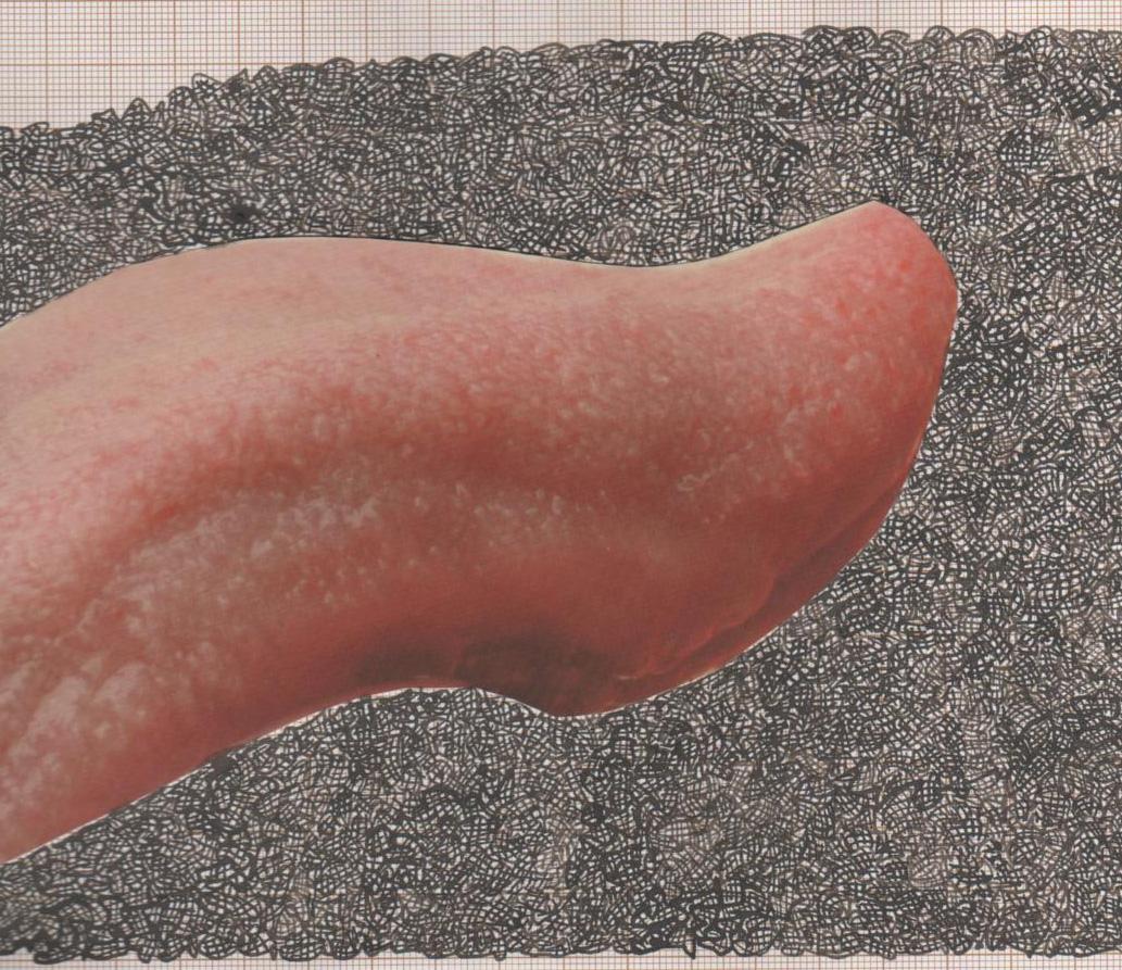 Collage, encre de chine. © Liliane Giraudon