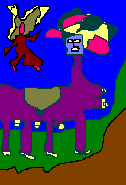 Ange sautant sur centaure femme