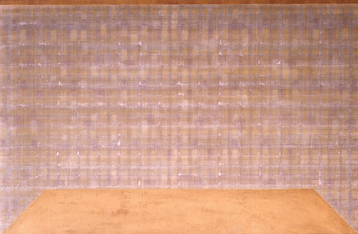 "48"" x 72"", 1980, encaustic on linen on alucobond panel."