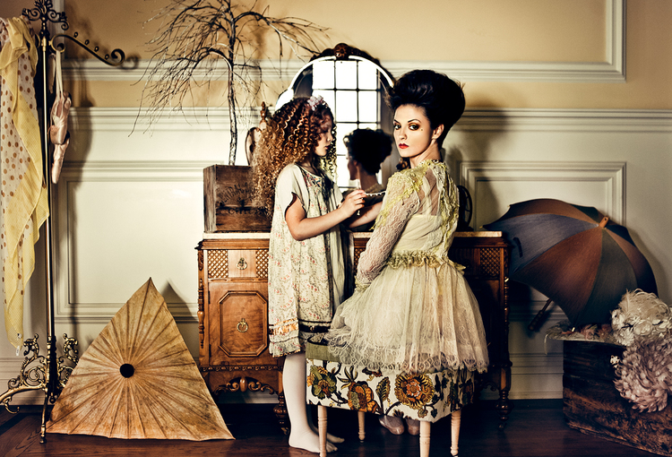 photographer: Kirsten Miccoli  hair and makeup: Loni Hale  models: Jaime Hickey and Berkeley Clayborne