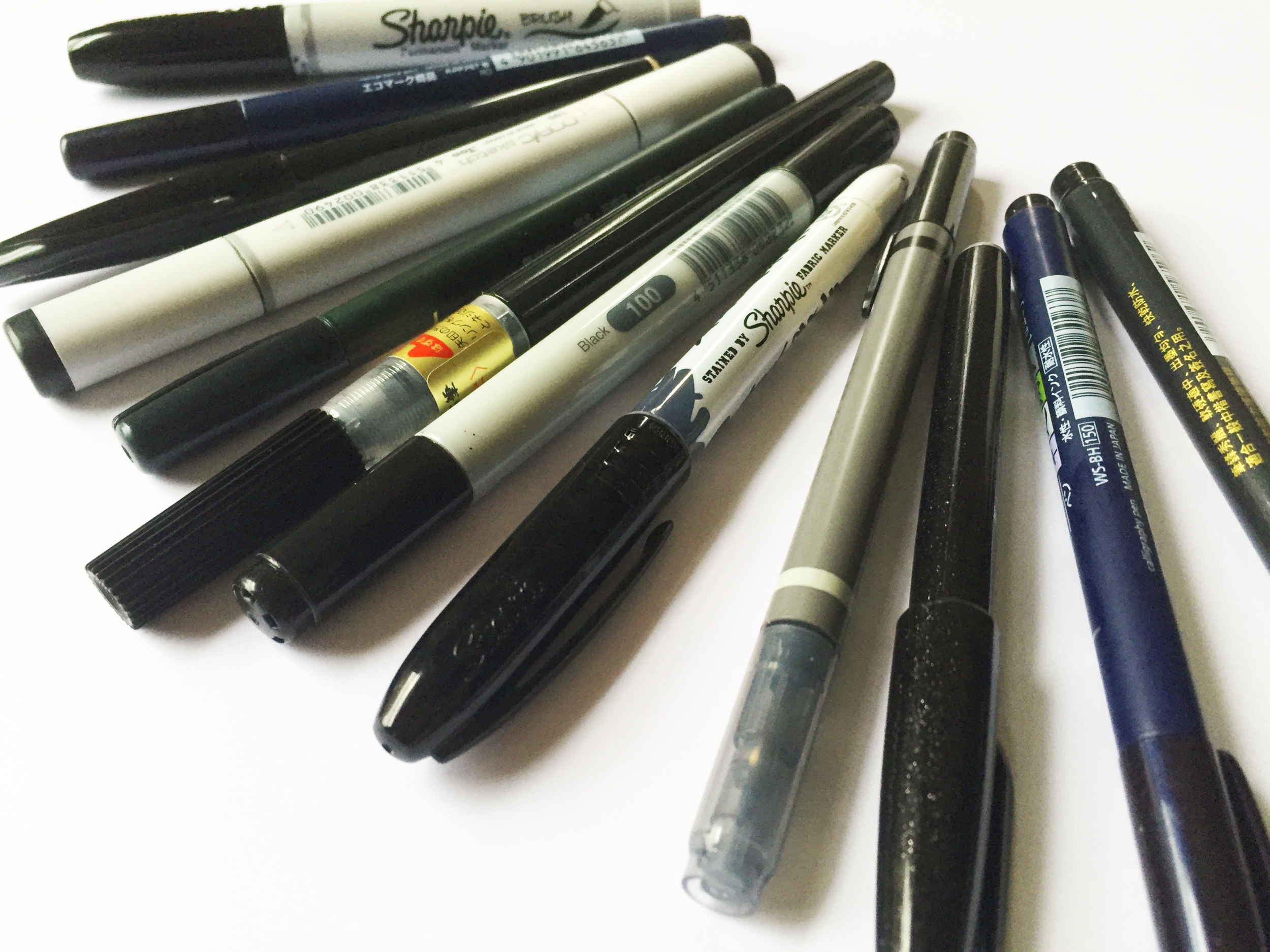 Brush pens: so many to choose from!