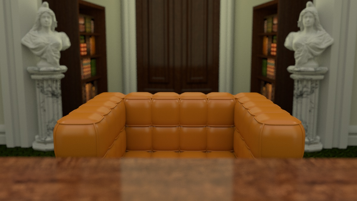 Crayola School Scene Pre-Production 3D Render I created the 3D render of the headmaster's point of view