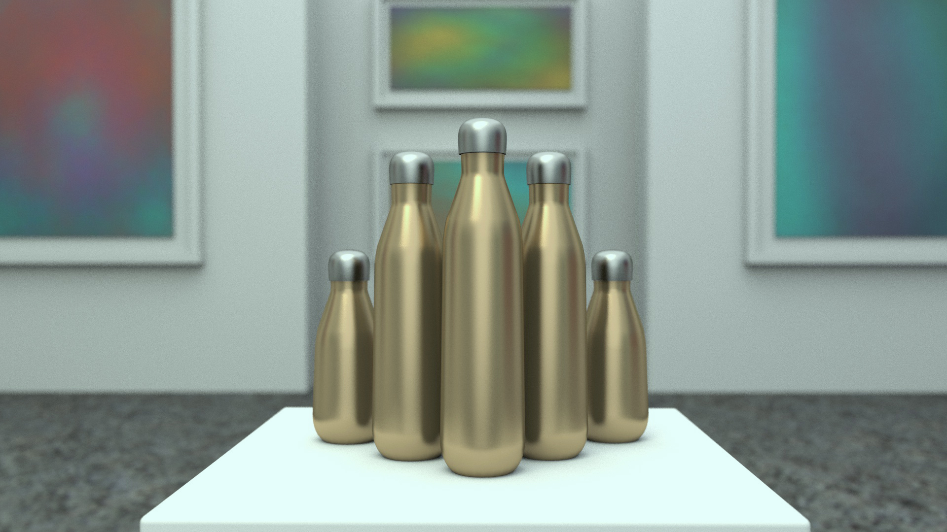 S'well Product Shot Pre-Production 3D Render I created the 3D render of the bottle closeups