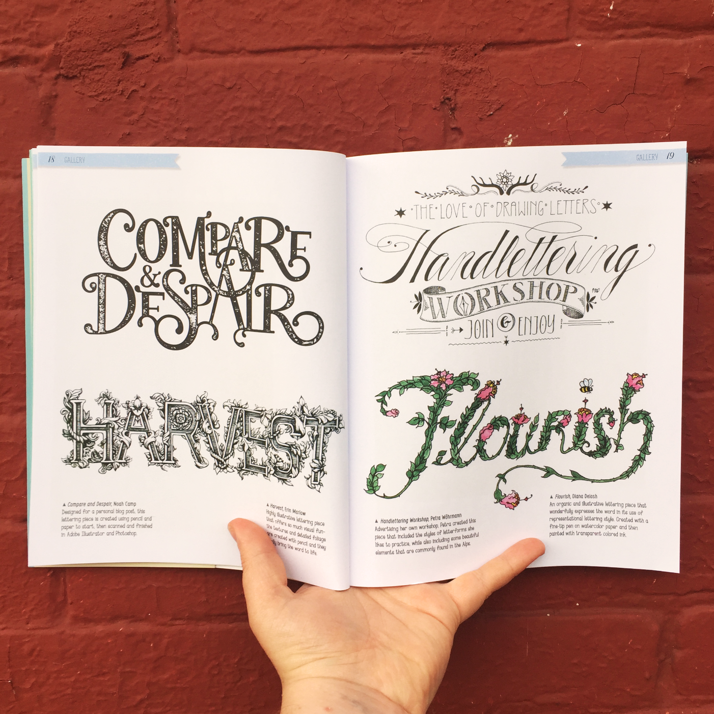 Compare and Despair Handlettering by Noah Camp