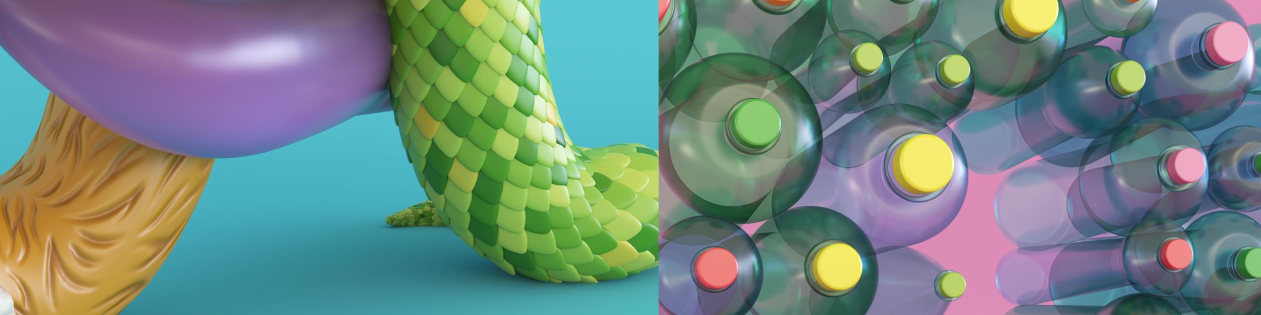 Method Home 3D type closeups by Noah Camp