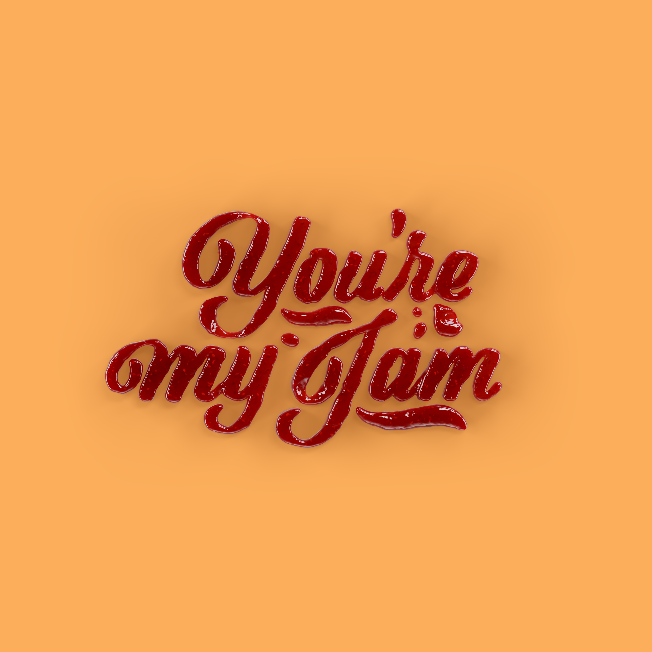 You're My Jam Food Lettering by Noah Camp
