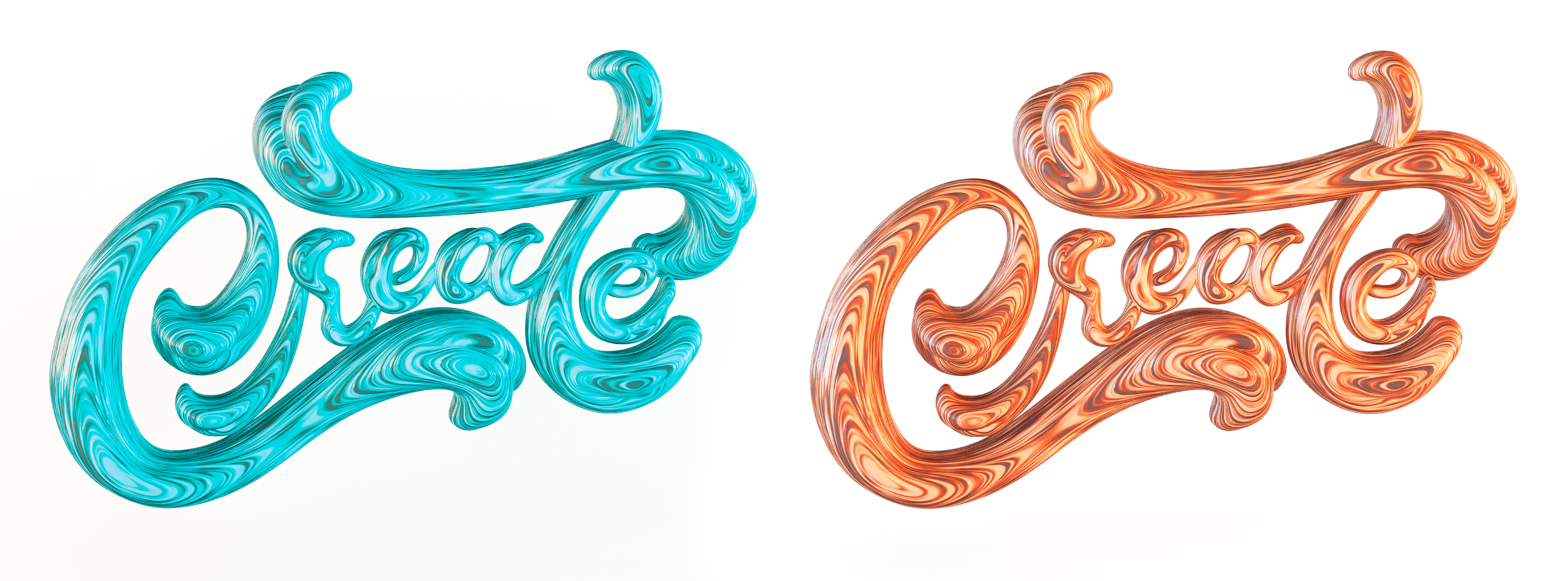 Create 3d Wood Chunky Lettering by Noah Camp