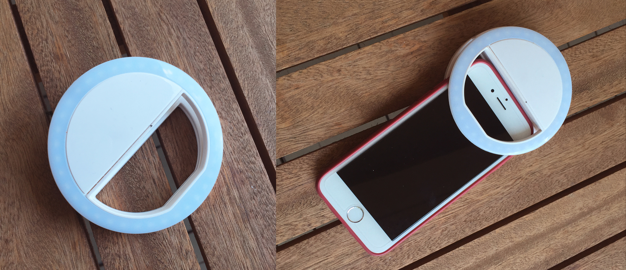 Vous pouvez installer cette lumière à n'importe quel endroit sur votre téléphone, ou bien la déporter grâce à sa pince.
