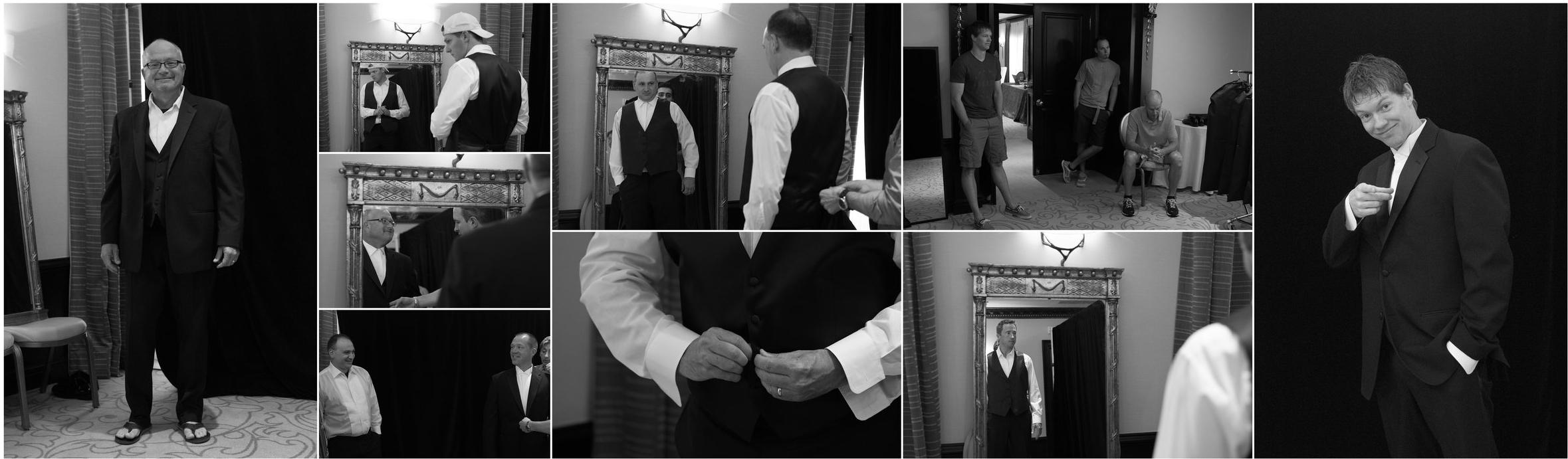 Essayage des tuxedos au Ritz-Carlton de Montréal en début de semaine