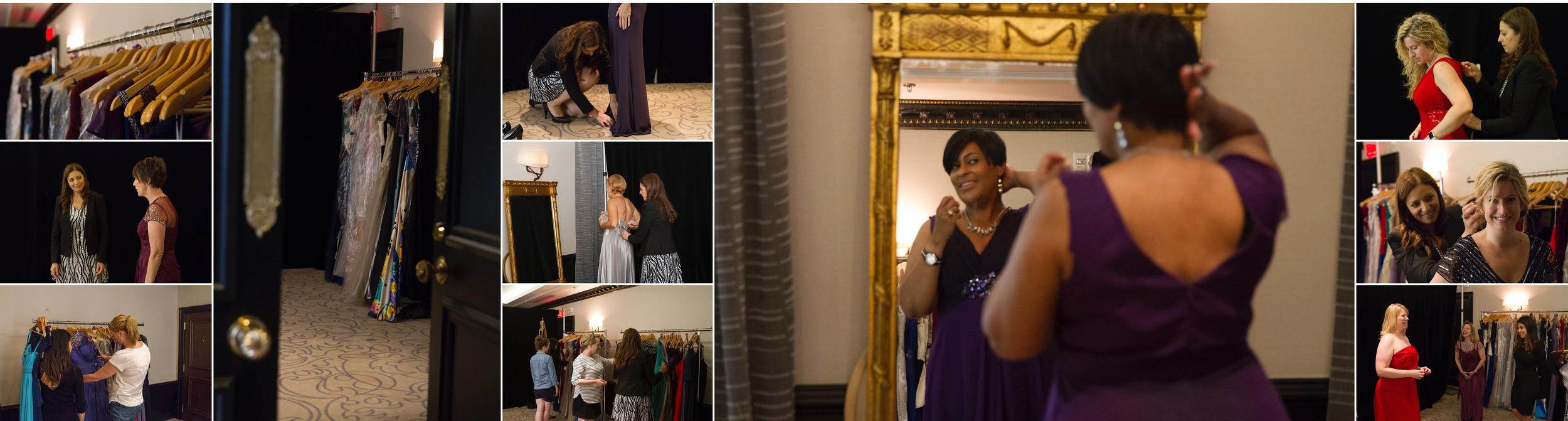 Essayage des robes au Ritz-Carlton de Montréal en début de semaine