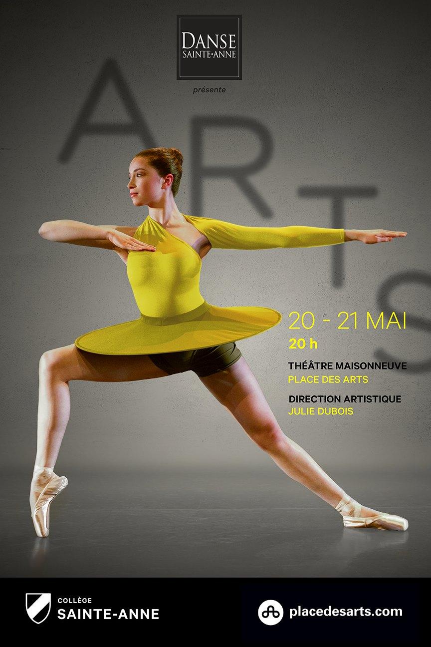 Affiche créée pour le programme Danse Sainte-Anne qui a été affichée à la Place des Arts.