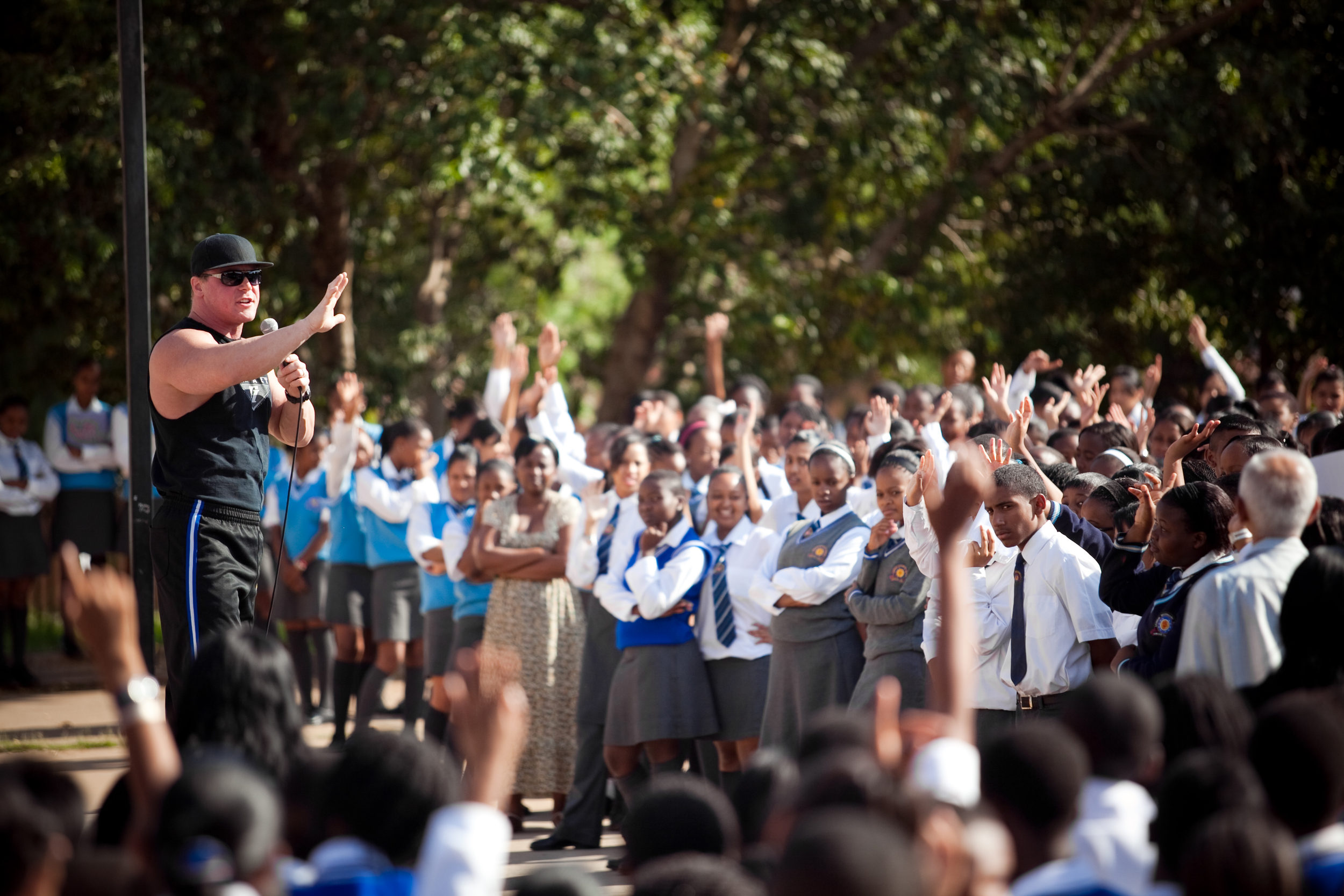 School Assembly in South Africa