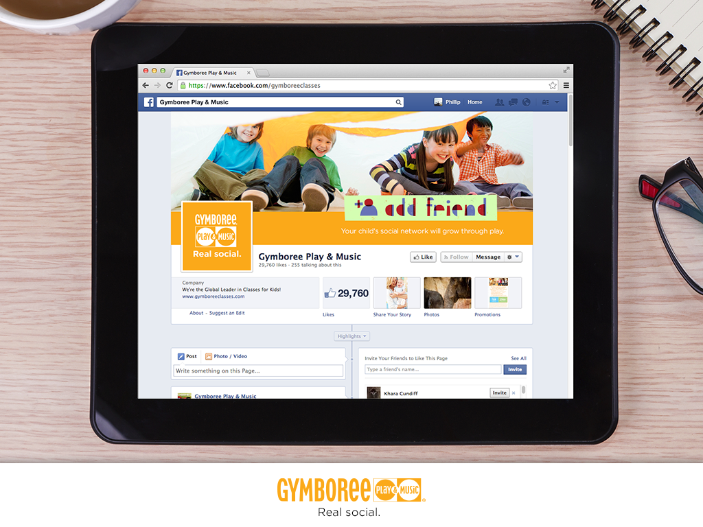 Facebook skin to compliment the campaign