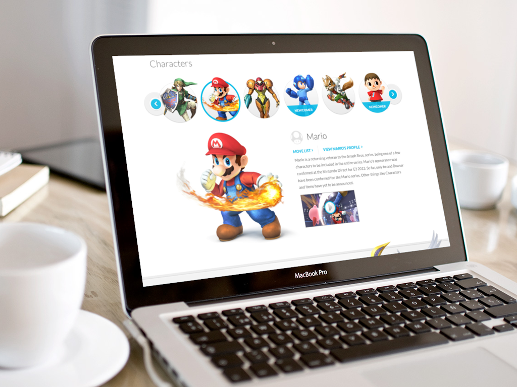 Nintendo Responsive Product Page 1