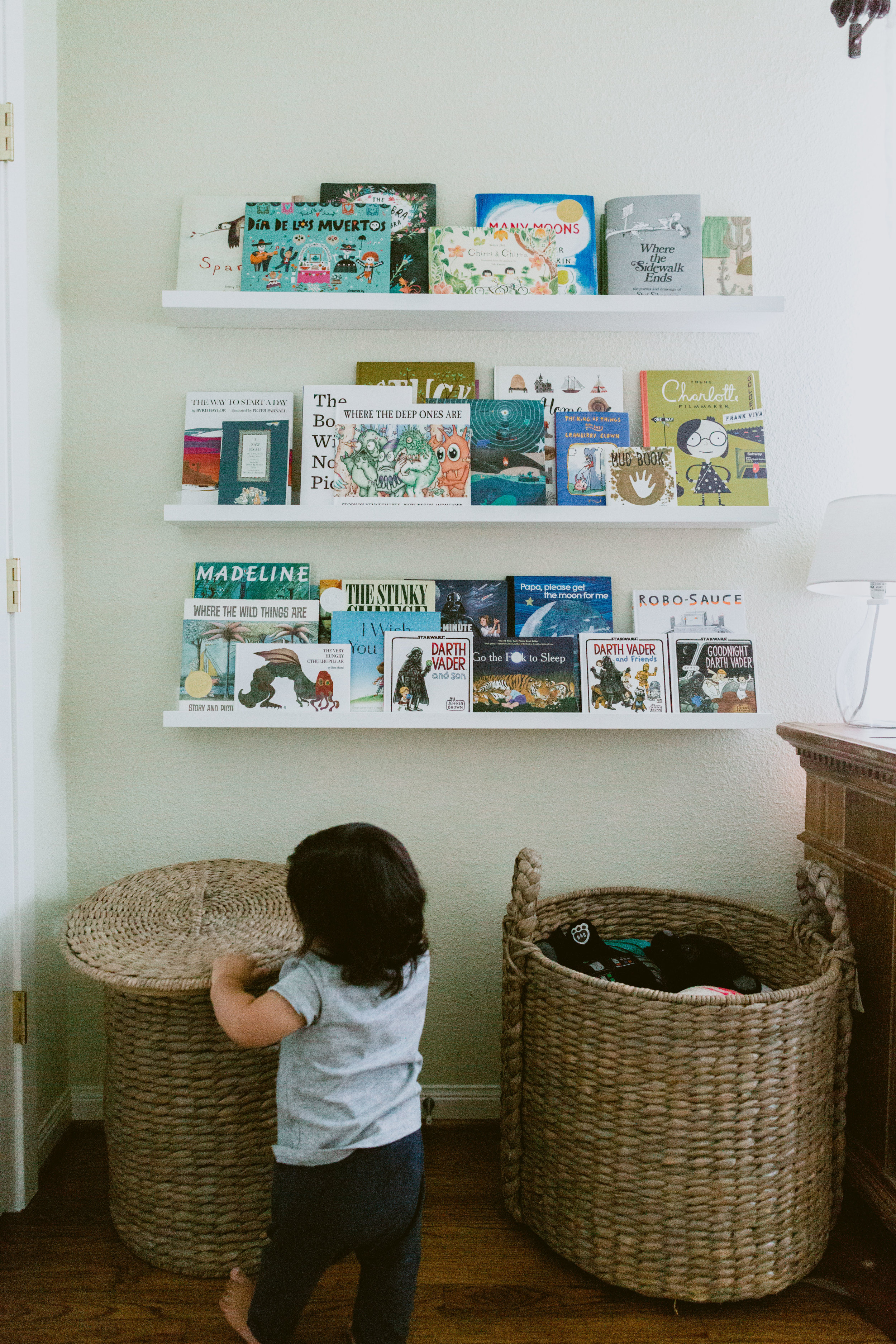 Sebastian's little library keeps growing.