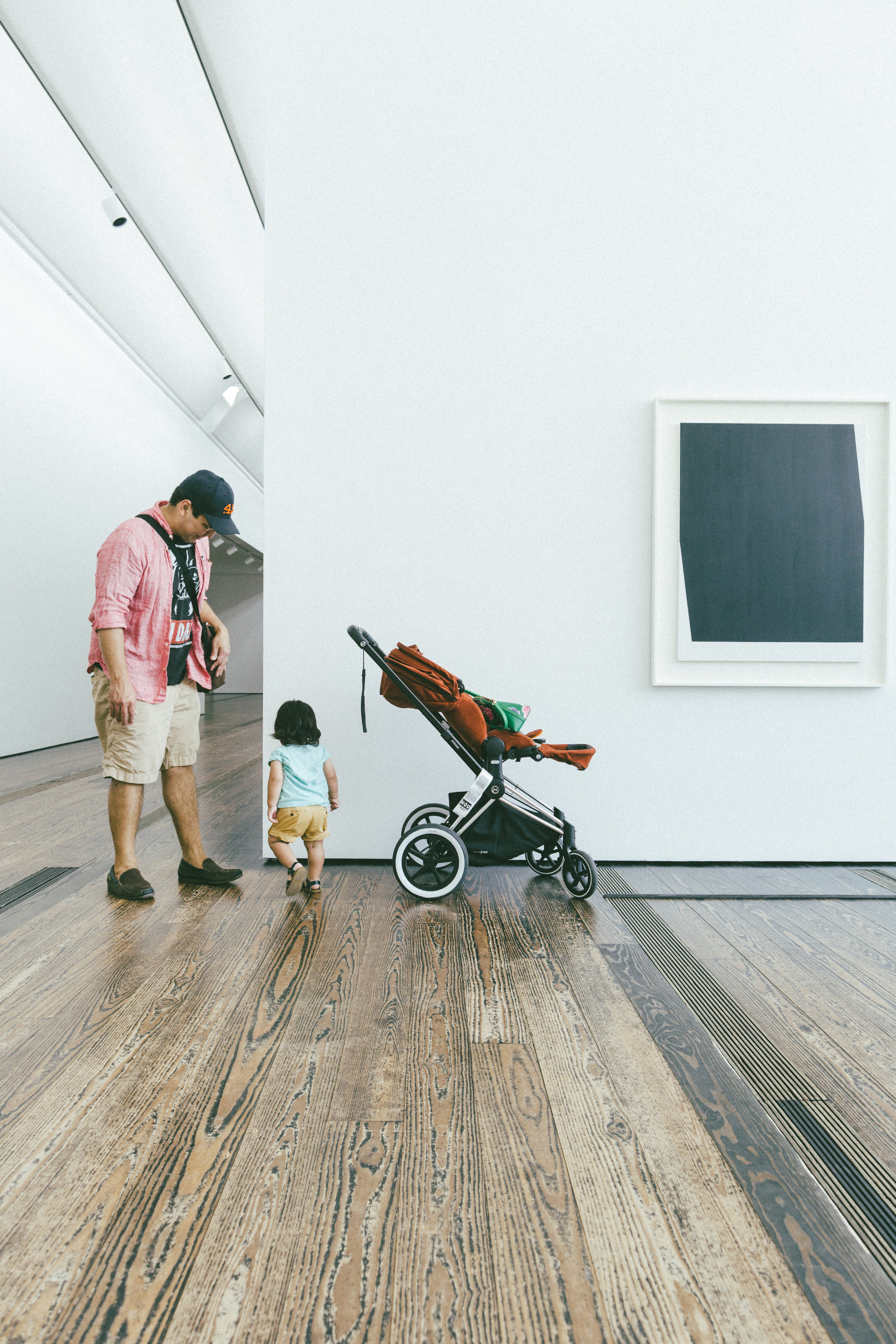 Sebastian's stroller is made by  Cybex .