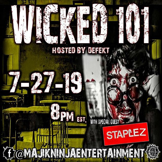 This Saturday! Tune in! #wicked101 #mneradio @majikninjaentertainment @wicked101show