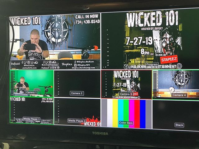 Less than a half hour till @that1killa goes live with @staplez989 on @wicked101show! Join us live at the @majikninjaentertainment Facebook page! #wicked101 #mneradio #staplez #defekt #wickedshit