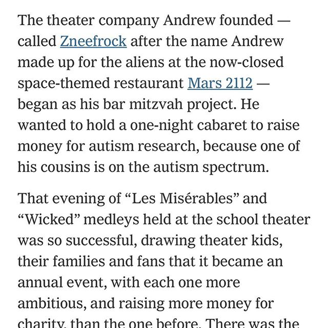 We are so excited about our shoutout in the New York Times!! Stay with us a while; we've got more plans for the future!!