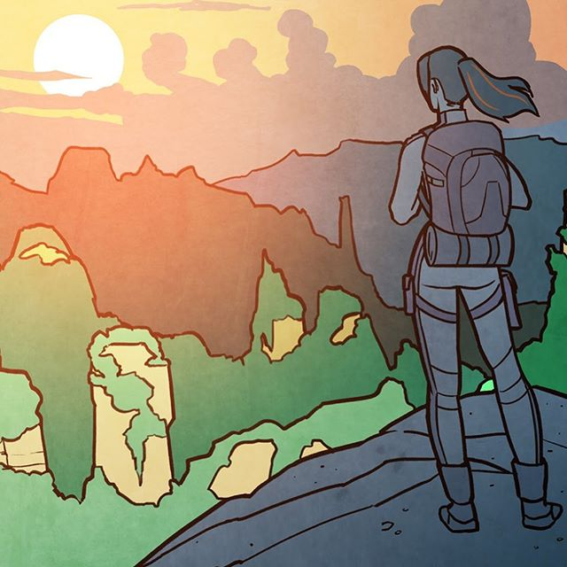 🌄 The real journey of discovery is not about seeking new landscapes, but in seeing with new eyes. ▫️ 🔥If you want a hard copy of my new comic book Letters from the Mother Tree written by @levinoetic ... ▫️ ✍️Sign up for my newsletter and I'll send you the Kickstarter when it goes live on July 16. ▫️ 👆Link in bio👆