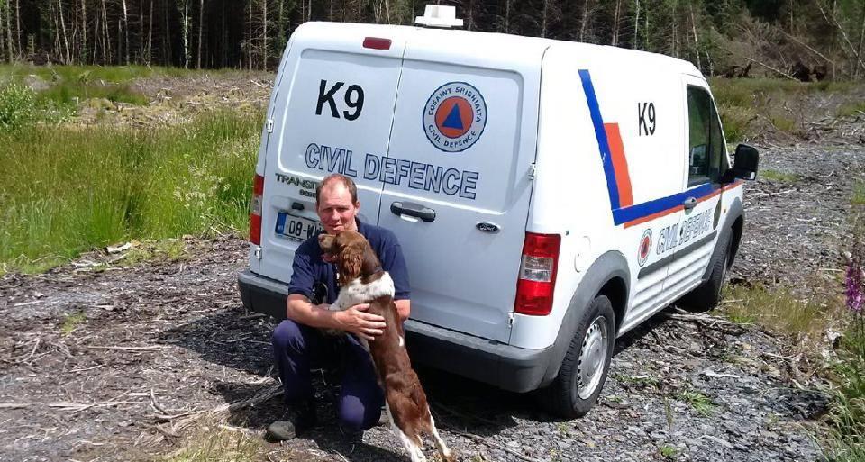 Max & his handler Mick - Dublin Civil Defence K9 Unit