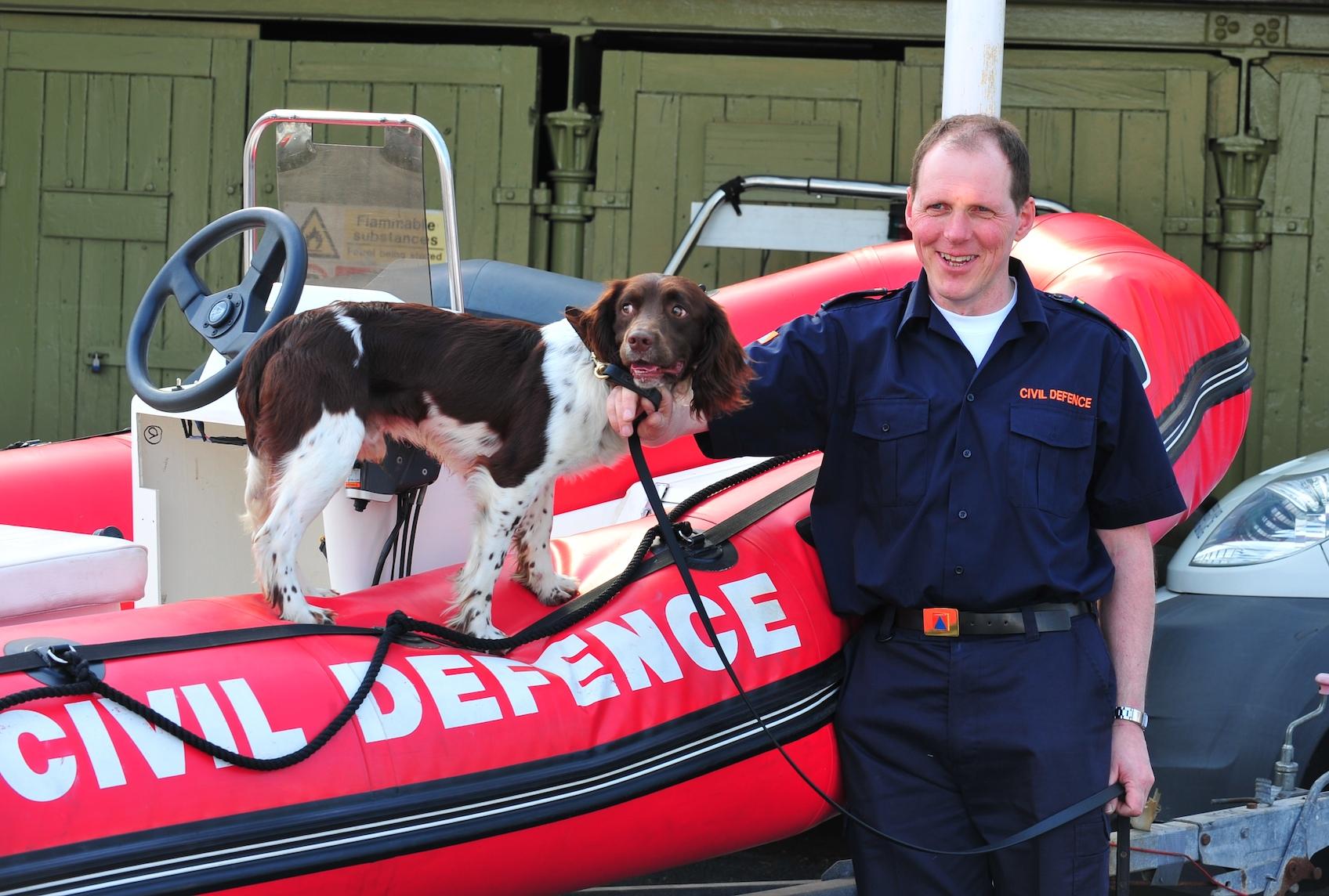 Max & his handler Mick -Dublin Civil Defence K9 Unit