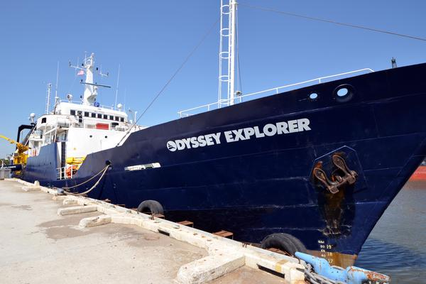 The 251-foot Odyssey Explorer serves as Odyssey's principal state-of-the-art deep-ocean archaeological platform.  Odyssey Marine Exploration Inc
