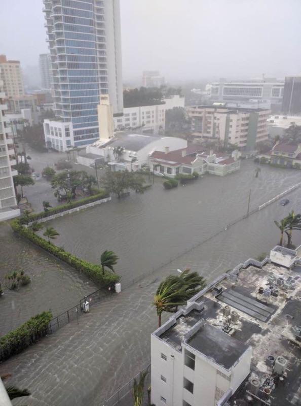 Photo taken Sept. 10 as Hurricane Irma impacted Miami.