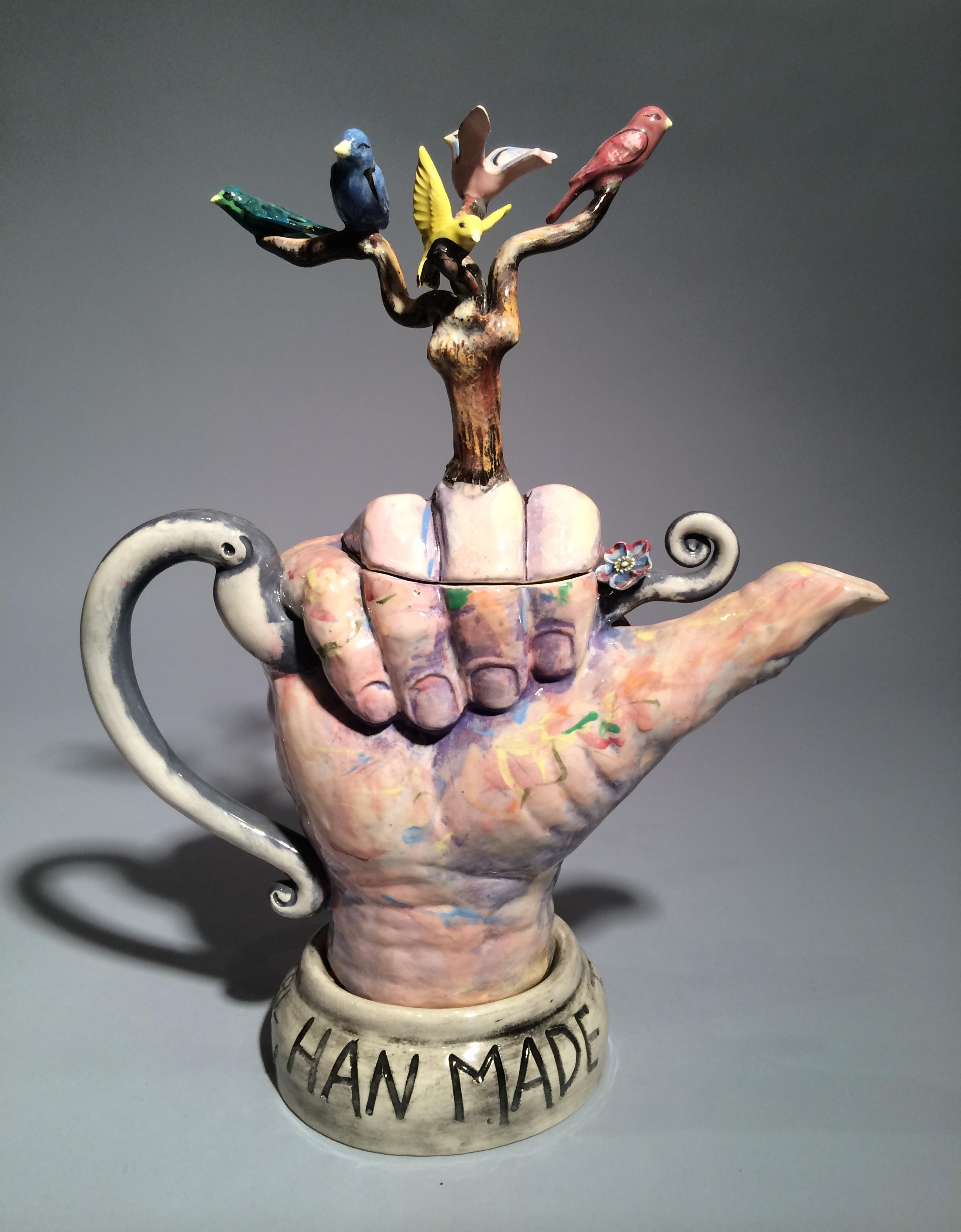 Jack Earl, Han Made Teapot, porcelain, ceramic, Sherrie Gallerie