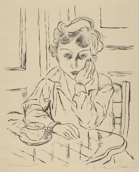 Sid Chafetz, Adele, lithograph, printmaking, Sherrie Gallerie