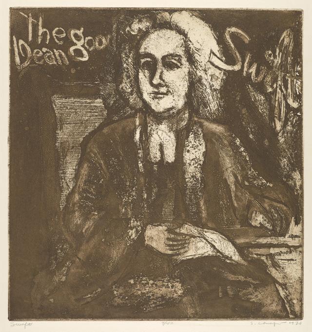 Sid Chafetz, Swift, etching, printmaking, Ohio State University, Sherrie Gallerie
