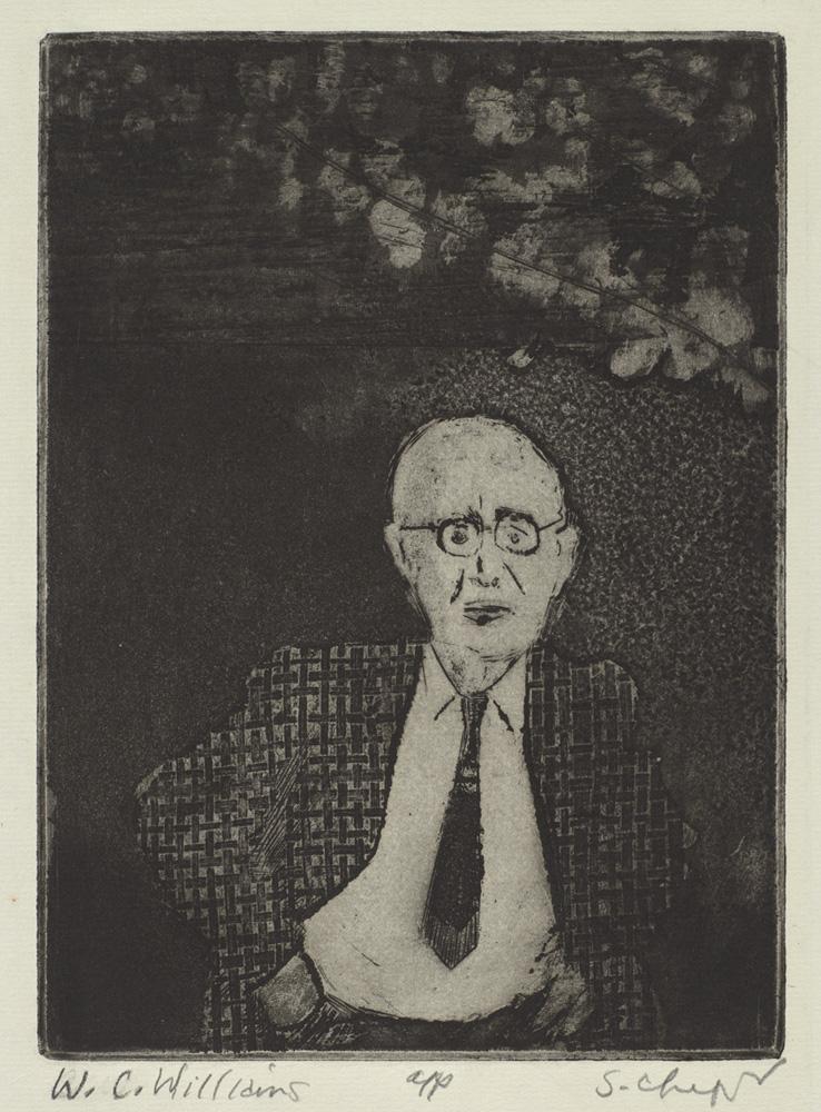 Sid Chafetz, W.C. Williams, etching, printmaking, Sherrie Gallerie