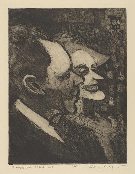 Sid Chafetz, Souvenir, etching, political, printmaking, Sherrie Gallerie