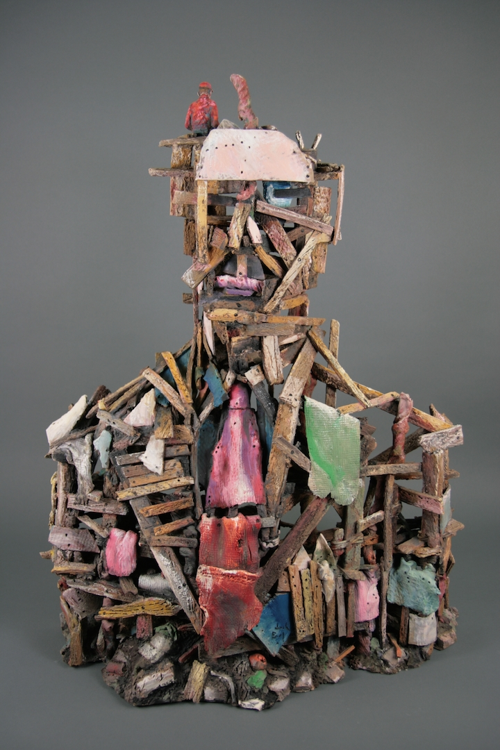 Jack Earl, Man Made Man, figurative, ceramic, Sherrie Gallerie
