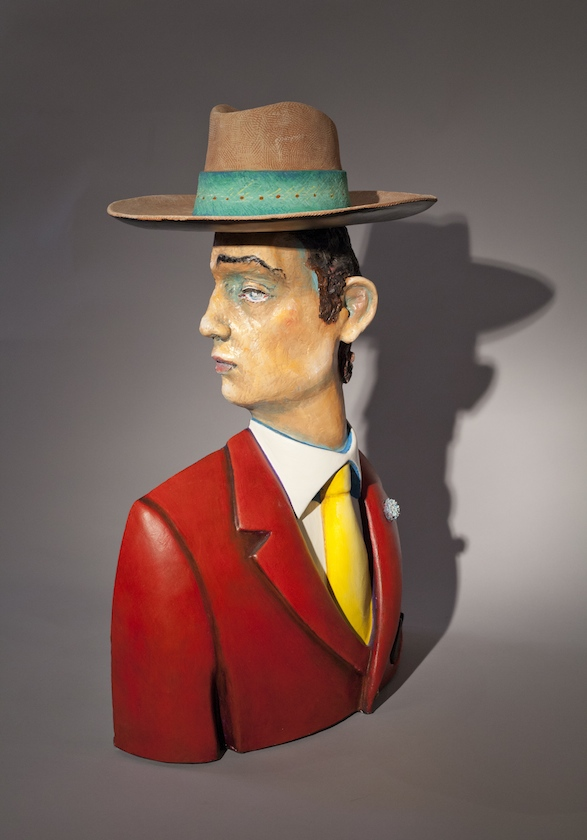 Jack Earl, Shadow and Man, figurative, ceramic, Sherrie Gallerie