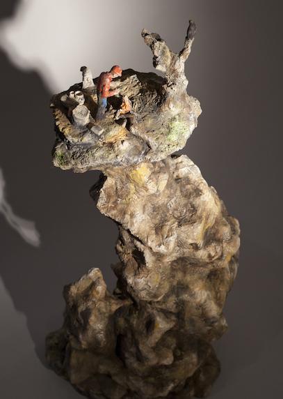 Jack Earl, Precipice, ceramic, figurative, Sherrie Gallerie