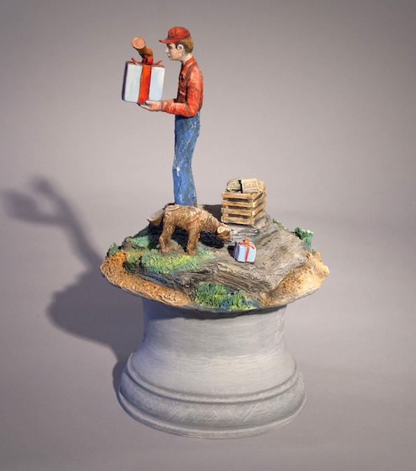 Jack Earl, Happy Birthday Bill, ceramic, Sherrie Gallerie