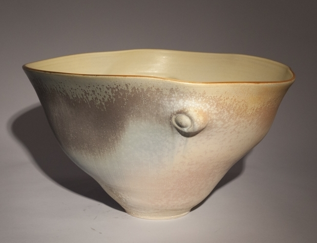 Tom Coleman, Medium Loose Bowl, porcelain ceramic vessel, functional, pottery, Sherrie Gallerie
