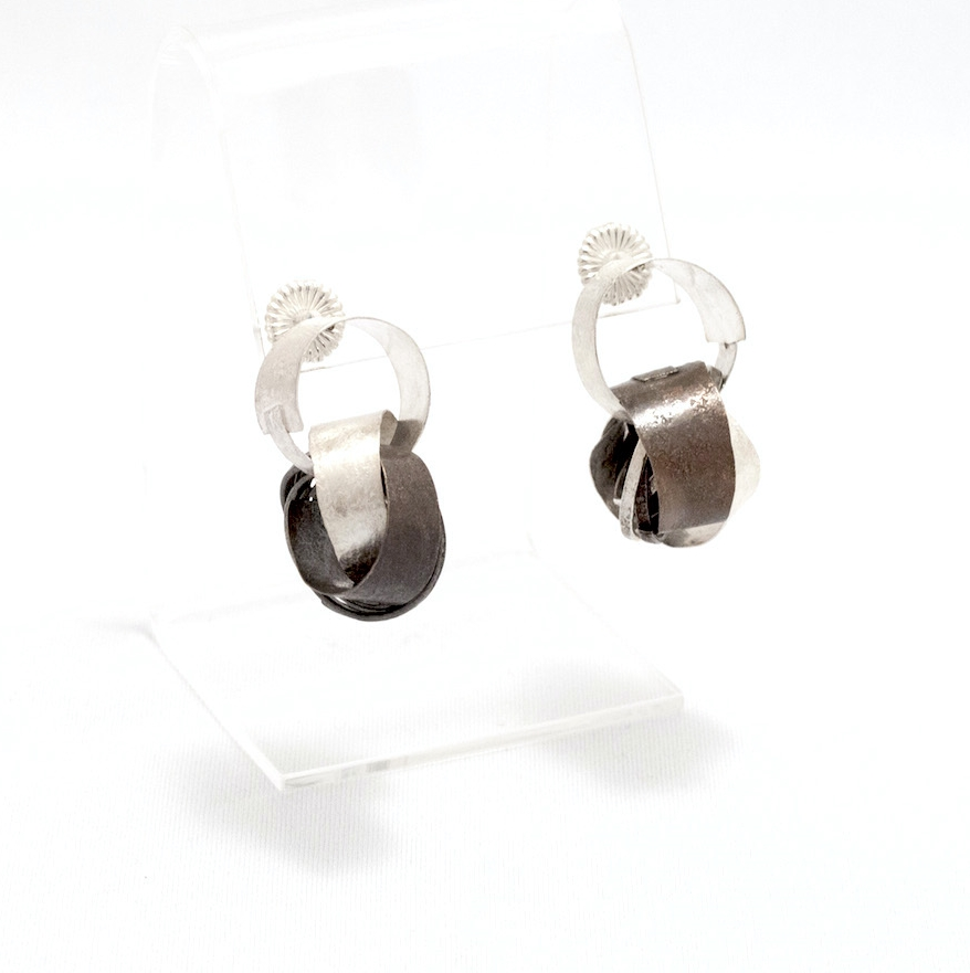 Biba Schutz, Art Jewelry, Earrings, Bronze, Silver, Studs, Hoops, Sherrie Gallerie
