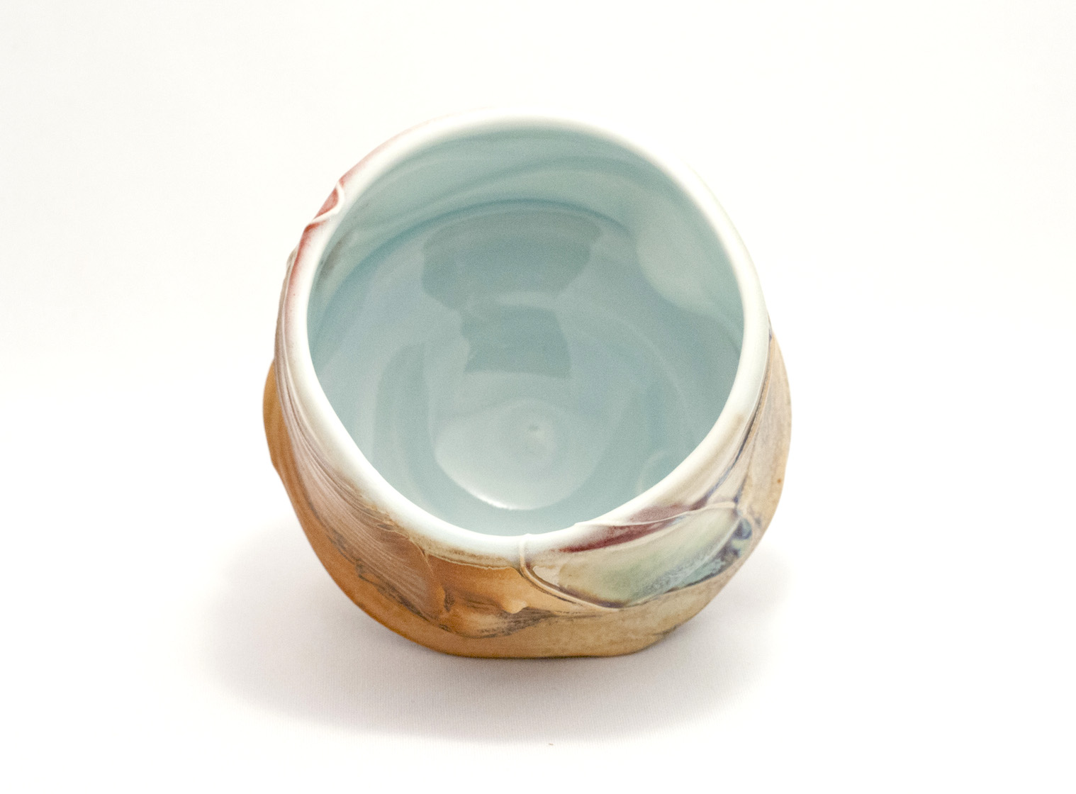 Tom Coleman, Crystal Matt Tea Bowl, porcelain ceramic vessel, functional, pottery, cup, Sherrie Gallerie