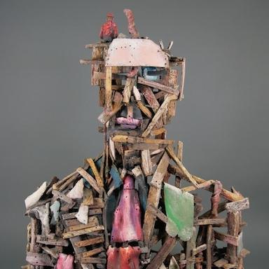 Jack Earl, Man Made Man, ceramic, figurative, Sherrie Gallerie